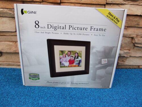 GiiNii 8 Inch Digital Picture Frame -New-