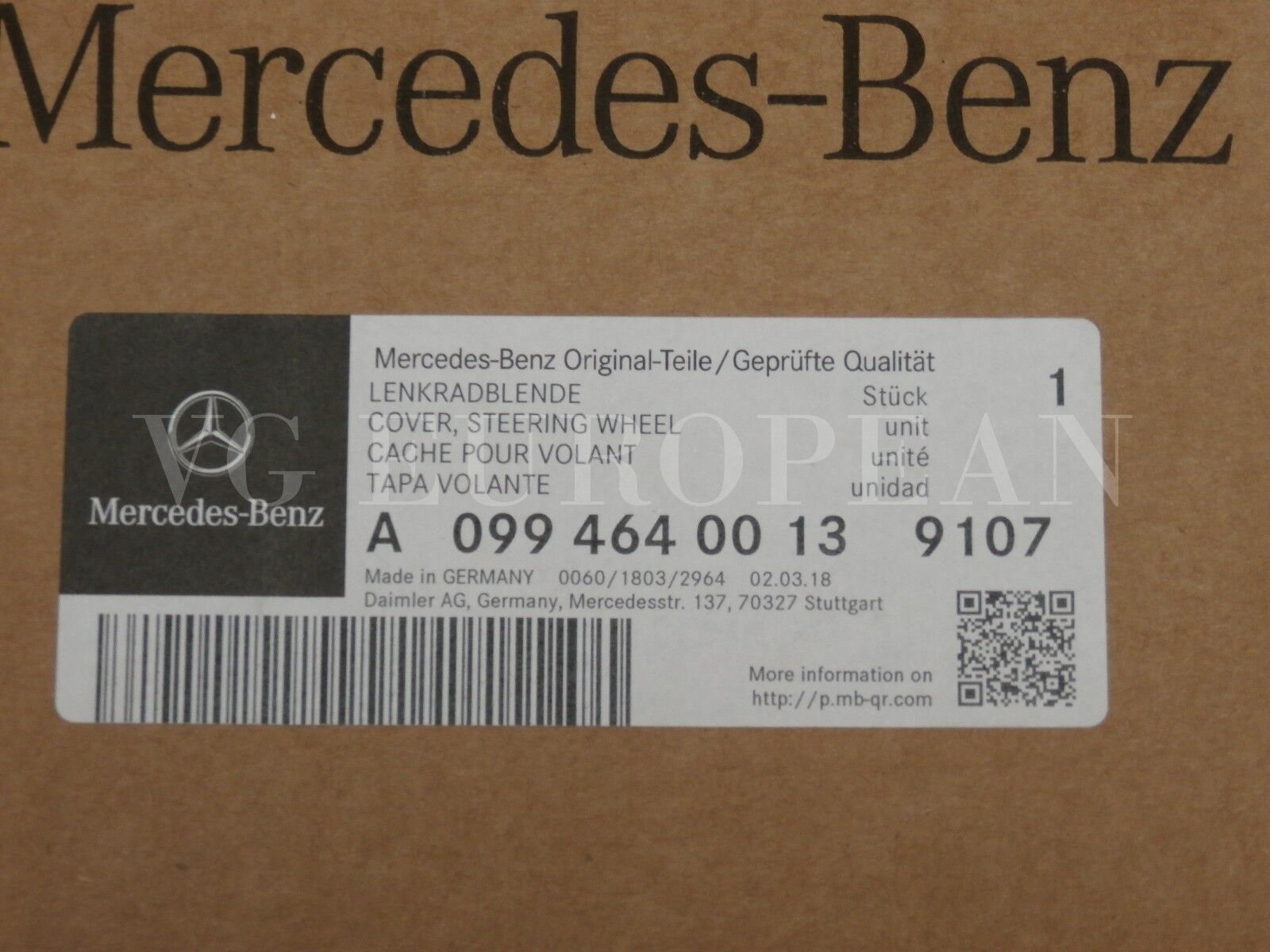 ::Mercedes Benz Genuine W204 C-Class Silver Steering Wheel Trim Cover