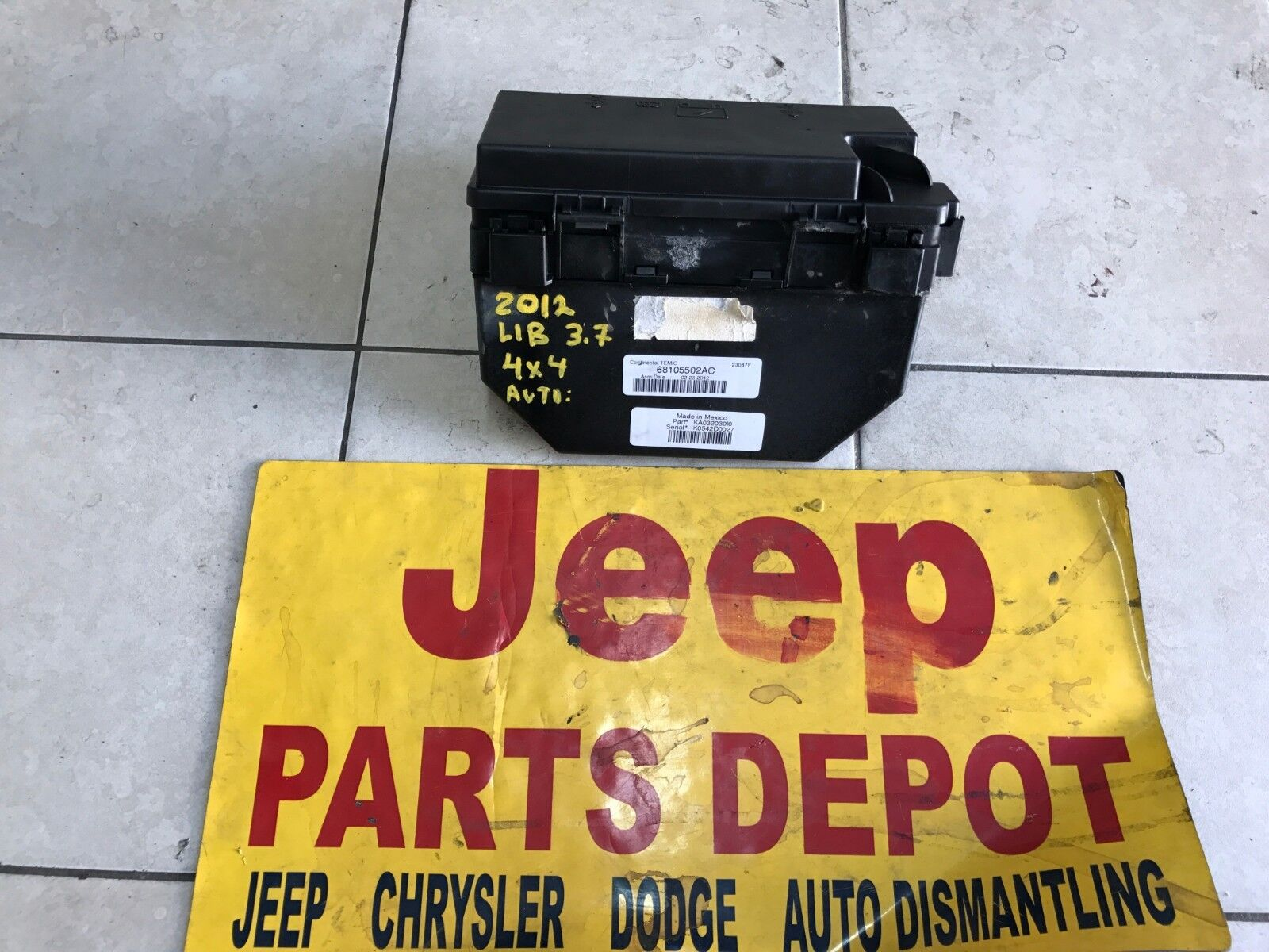 2012 Liberty Fuse Box 2011 Jeep Wiring Library 37l Relay Unit Oem 68105502ac