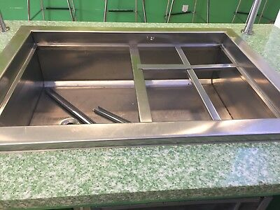 Refrigerated Drop-in Stainless Steel Cold Well 24x30 120v Works Greatnsf