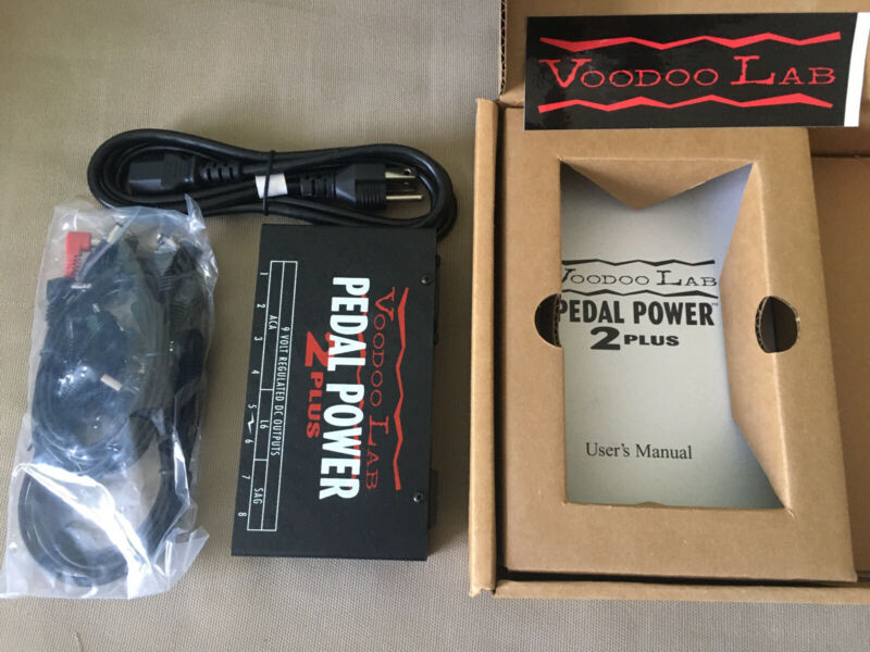 NOS Voodoo Lab Pedal Power 2 Plus power supply pedal with original box & manual