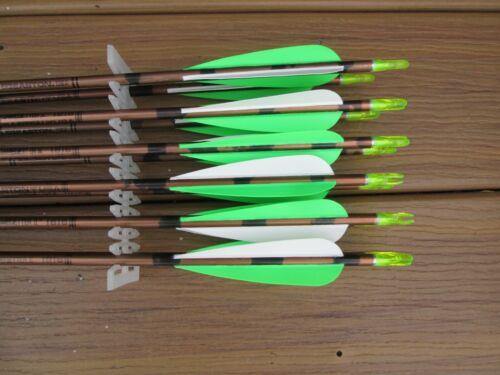(12) Vintage Easton GGII 1816 Arrows w/Vanes