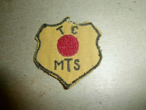 Vintage TC MTS Patch Motor Transport Red Ball Express