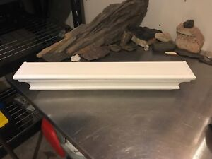 2 foot long by 4 inches deep rustic decorative shelf