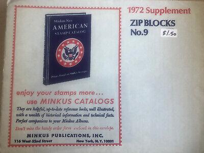 Minkus United States 1972 zip Block Supplements