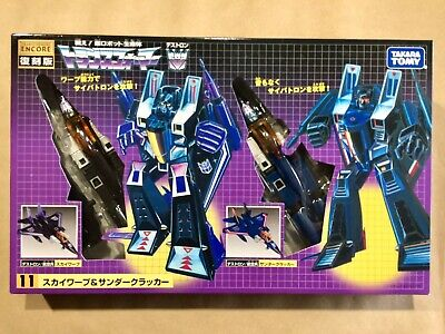Transformers Thundercracker & Skywarp Encore 11 Takara G1 MISB