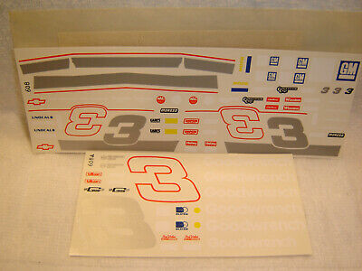 #3 Dale Earnhardt Sr GOODWRENCH Chevy Lumina 2 Sheet Decal Set
