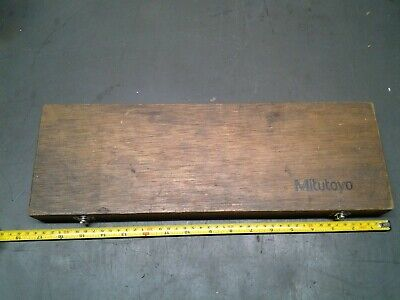 Mitutoyo 505-648-50 12 .001 Dial Caliper Wood Box Only Ms-208