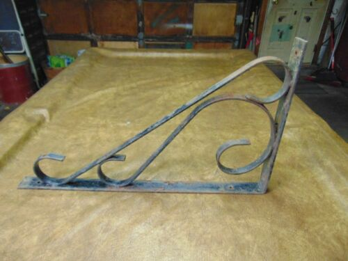 Antique Heavy Duty Scrolled Wrought Iron Wall Bracket Sign Hanger