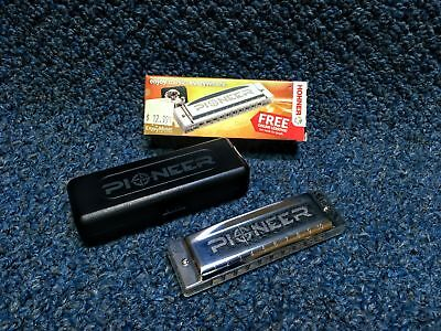 New Hohner Pioneer Harmonica w/ Case and Online (Beginner Harmonica Lesson)