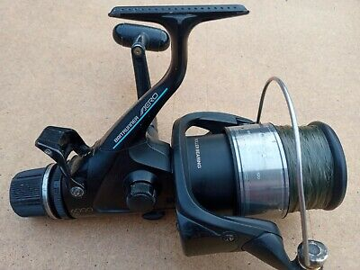 Shimano Aero 6000RE baitrunner fishing reel with line 2 of 3 Works without fault
