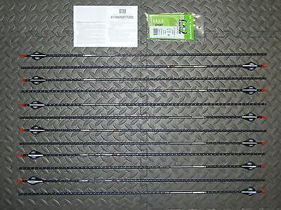 New 12 Easton FMJ 340 Spine 5MM Arrows-Full Metal Jacket- 11.3 GPI-Cut/Insert Av