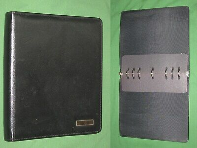 Folio 1.0 Black Leather Day Timer Planner 8.5x11 Monarch Franklin Covey 324