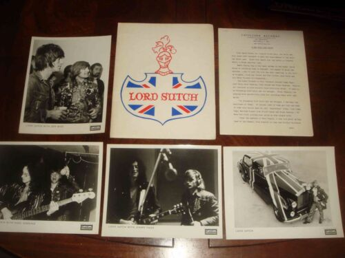 Rare SCREAMING LORD SUTCH 1970 COTILLION RECORDS PRESSKIT Jimmy Page, Jeff Beck