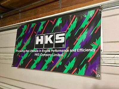 HKS Banner JDM AE86 EK9 DC5 SW20 S13 S14 Silvia 2JZ SR20 4AG Evo STi