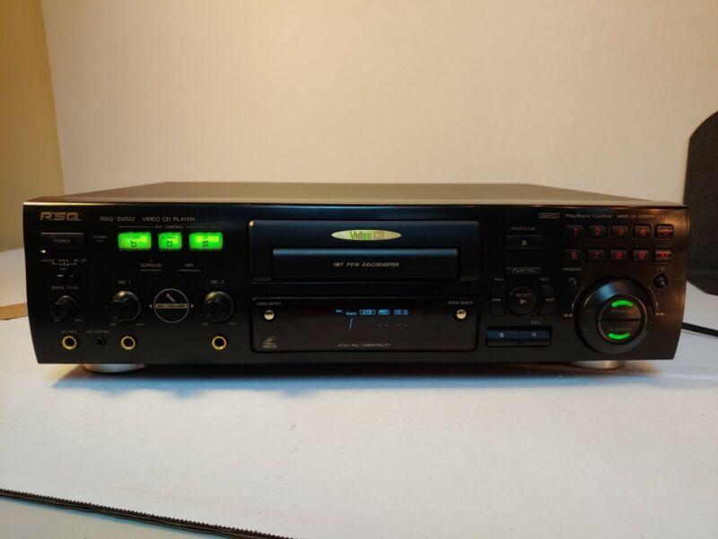 RSQ RSQ-SV222 Karaoke Video CD Players CD-G/VCD 2.0 w/ 2 Mic Inputs No Remote