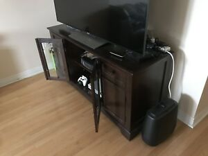 Hard wood TV stand