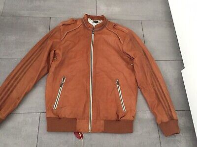 Vintage Adidas Superstar Vespa Leather Jacket Run DMC Star Wars