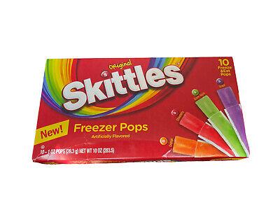New Skittles Original Freezer Pops Frozen Flavor Ice Limited Edition Summer 1pk