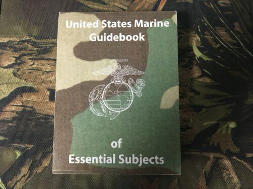 USMC GUIDEBOOK OF ESSENTIAL SUBJECTS