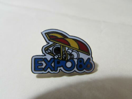 """1986 VINTAGE 1"""" EXPO 86 Vancouver British Columbia  tac pin broach brooch"""