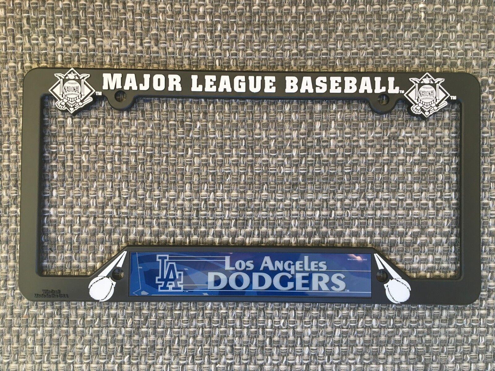 Los Angeles Dodgers NEW MLB Black Plastic License Plate Fram