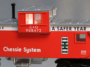 LIONEL CHESSIE LIGHTED EXTENDED VISION CABOOSE O GAUGE train freight 6-82324 C