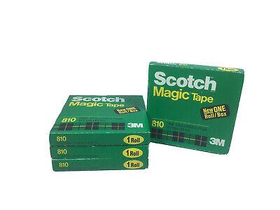 Scotch Magic Tape Refill 810 12 X 2592 4 Pack O1