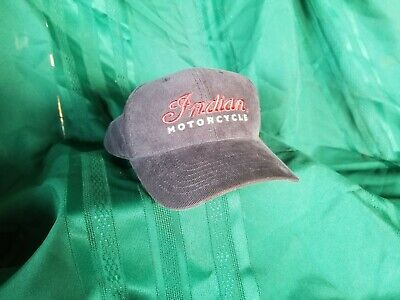Indian Motorcycles Hat Adjustable Blue Embroidered Logo America's First