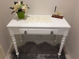White hallway wood table Enfield Burwood Area Preview