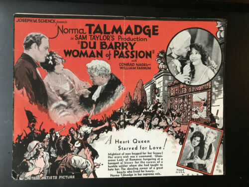 "Dubarry Woman Of Passion 1930 UA 6x8"" herald Norma Talmadge Conrad Nagel"