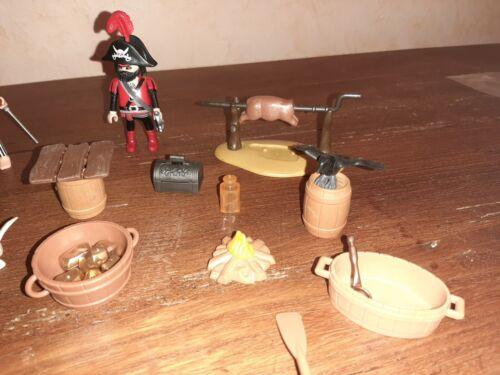 (n) pirate playmobil barque avec accessoires