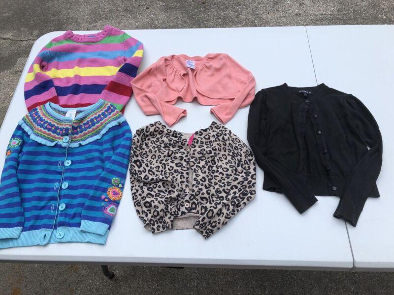 Girls Size 4 Long Sleeve Sweater Cardigans