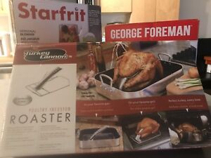 3 in 1 deal for Starfrit - George Foreman - Turkey Cannon