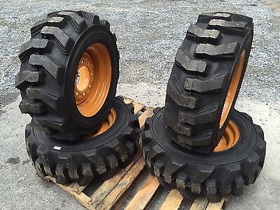 10-16.5 Carlisle Ultra Guard Skid Steer Tireswheelsrims For Case 40xt 10x16.5