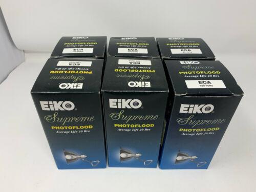 LOT OF 6 EIKO SUPREME PHOTOFLOOD LIGHT BULBS - 250 WATTS - ECA120 V - #01970