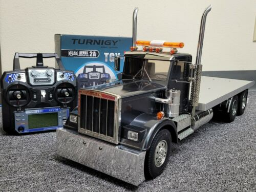 Custom Built Tamiya 1/14 King Hauler Day Cab Flatbed Truck +ESC +2.4GHz +Battery