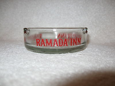 Ramada Inn Round Clear Glass Ashtray Ramada Inn Clear Glass Round Ashtray