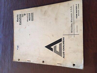 Allis Chalmers Allis-chalmers 45 Grader Motor Grader D Parts Manual One