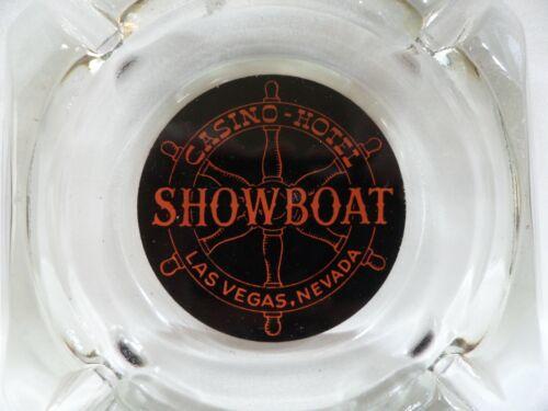 Vintage Showboat Casino Hotel Las Vegas Glass Ashtray Nautical Theme Ships Wheel