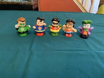 DC Comics Fisher Price Little People Lot Of 5 Joker Robin