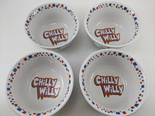 Set of 4 Vintage Chilly Willy Ceramic Bowls