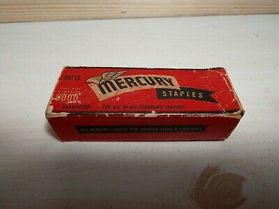 Vintage Box Of Mercury Standard Staples
