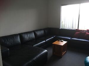 Large real leather lounge suite Forrestdale Armadale Area Preview