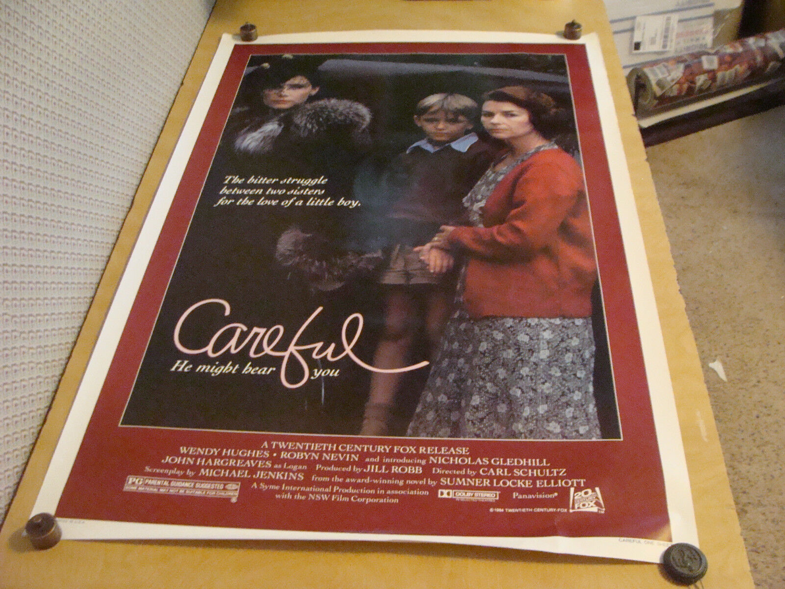 ORIGINAL Rolled Movie poster: CAREFUL He Might Hear You -- 1984
