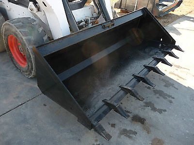 Bobcat Skid Steer Attachment 84 Low Profile Tooth Dirt Bucket - Ship 199