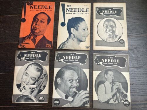 "THE NEEDLE - RECORD COLLECTORS GUIDE - 6 issues -1944-""Hot Jazz""  Publication"