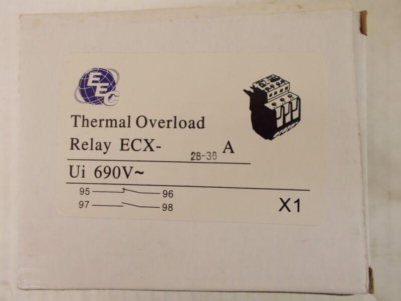 EEC  ECX28-36A  OVERLOAD RELAY  AEG