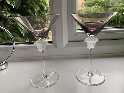 Rosenthal VERSACE  MEDUSA cocktail Glasses Pair