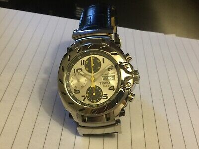 TISSOT MOTO GP 25J AUTOMATIC CHRONOGRAPH-ST STEEL-LTD EDITION-NEAR MINT-IN F.W.O
